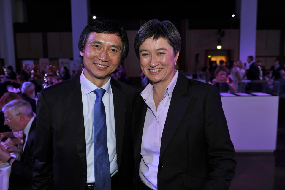 Migration Council of Australia, Dinner and Awards night Great Hall . Parliament House Canberra 24 March 2014. Abbott Shorten Fierravanti-Wells Li Cunxin Wong Scanlon